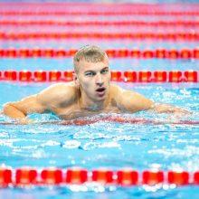 Šalies plaukimo čempionate – A. Šidlausko triumfas ir U. Mažutaitytės rekordas