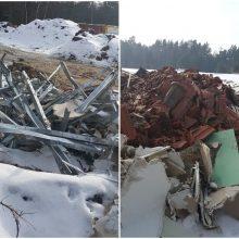 Neringiškius papiktino statybinis laužas: atliekoms nerado tinkamesnės aikštelės?