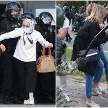Minske – šūviai: pareigūnai vaiko protestuotojus