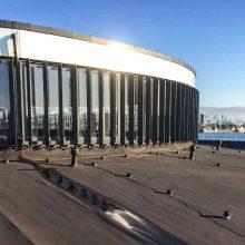 Saulės elektrinė – ant delfinariumo stogo