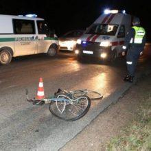 Incidentas Mažeikių rajone: automobilis kliudė neblaivų dviratininką ir pasišalino