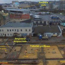 Vilniaus autobusų stoties pašonėje archeologai atkasė šv. Stepono turgavietės liekanas