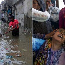 Pakistaną užliejo potvynis: šeši žmonės žuvo nuo elektros smūgio