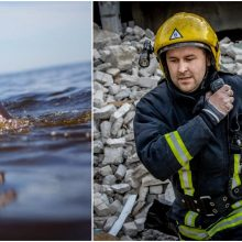 Kilnus poelgis: Vilniuje ugniagesys pastebėjo ir išgelbėjo į Nerį įkritusią moterį