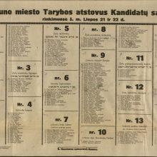 Steigiamojo Seimo metai: naujoji Kauno realybė