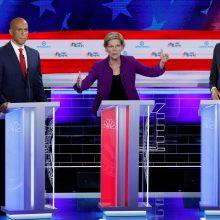 JAV įvyko pirmieji demokratų pretendentų į prezidento postą debatai