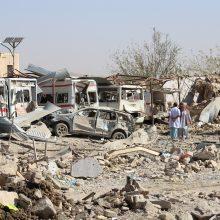 Galingas sprogimas Afganistane: sužeista beveik šimtas žmonių