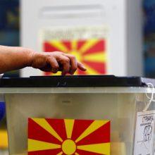 Su virusu kovojanti Šiaurės Makedonija prieš derybas su ES balsuoja rinkimuose