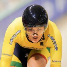 Europos dviračių treko čempionate lietuviai į pirmuosius dešimtukus nepateko
