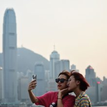 Honkonge nerimstant protestams, ženkliai sumažėjo turistų srautai