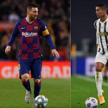UEFA Čempionų lyga: L. Messi – prieš C. Ronaldo