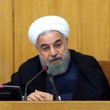 Irano prezidentas: Teheranas nori derybų, bet JAV privalo panaikinti sankcijas