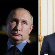 V. Putino ir E. Macrono pokalbis telefonu: aptarė padėtį Rytų Ukrainoje