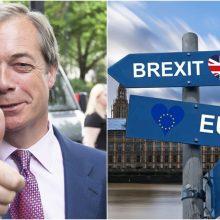 """Išstojimo iš ES šalininkas N. Farage'as: """"Brexit"""" bus dar kartą atidėtas"""