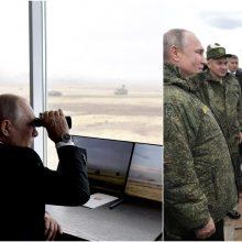 V. Putinas stebėjo didžiausias šiais metais savo šalies karines pratybas