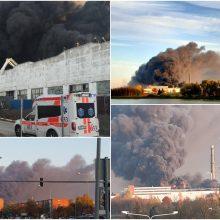 Alytuje dėl gaisro – ekstremali situacija: pasitelktos kariuomenės pajėgos