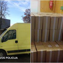 Šalčininkų policininkai sulaikė baltarusį su 65 tūkst. pakelių kontrabandinių rūkalų