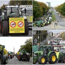 Berlyne sukilo ūkininkai: centrą blokavo 200 traktorių