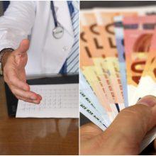 Medikai: biudžeto projektas nerodo, kad įsipareigojimai dėl algų kėlimo bus įvykdyti