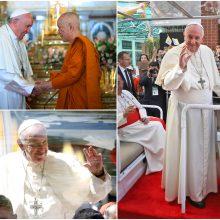 Tailande viešintis popiežius smerkia vaikų ir moterų seksualinį išnaudojimą