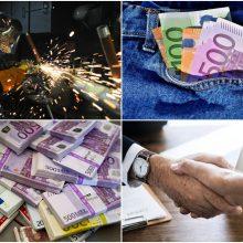 """""""Sodra"""": kas trečias dirbantysis per mėnesį uždirbo 1277 eurus"""