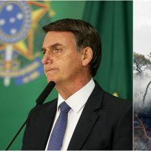 J. Bolsonaro atmetė G-7 šalių siūlymą padėti gesinti gaisrus Amazonijoje