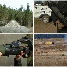 Lietuvoje demonstruota naujausia NATO ginkluotė: šaudė kulkosvaidžiai, prieštankiniai ginklai