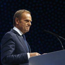 Europos centro dešiniųjų stovykla D. Tuską ketina paskirti savo lyderiu