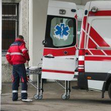 Panevėžyje nuo kopėčių nukrito ir susižalojo darbininkas