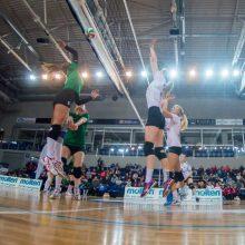 Dramatiškame Lietuvos moterų tinklinio čempionato starte – kauniečių pergalė