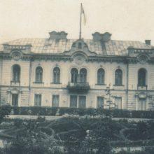 Išliko: taip atrodė Kauno gubernatūra ir jos gėlynai XX a. pradžioje.