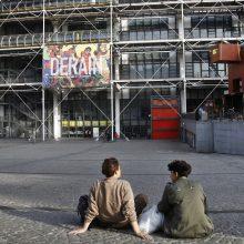 Paryžiaus Pompidou centre lankytojas peiliu suraižė D. Bureno drobę