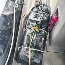 Gabenimas: narkotikai buvo po maždaug 50 kilogramų svėrusiuose paketuose, kurių du rasti Brazilijoje, o vienas – Graikijoje.