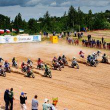 Europos motociklų kroso čempionato varžybos: prizus išsivežė lietuvių varžovai