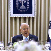 Izraelio prezidentas užbaigs derybas dėl naujos vyriausybės formavimo