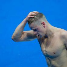 Sėkmė neaplankė: D. Rapšys nepateko į 400 m plaukimo laisvuoju stiliumi rungties finalą
