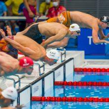Pirmoji diena olimpiniame baseine: 13 vieta vieną plaukiką džiugino, kitą liūdino