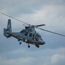 """Karinis sraigtasparnis į ligoninę nugabeno laivo """"Gemini Sun"""" įgulos narį"""