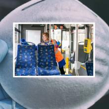 SAM rekomenduoja dėvėti kaukes viešajame transporte, nepriimti stovinčių keleivių