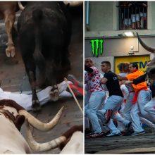 Ispanijoje per bėgimą su buliais subadytas dar vienas žmogus