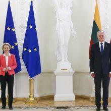 Prezidento ir EK pirmininkės susitikime aptarti ir nauji nelegalios migracijos iššūkiai