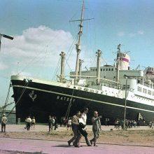 """Patrauklus: Lenkijos pasididžiavimu buvęs transatlantinis laivas """"Batory"""" 1965 m."""
