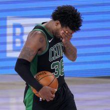 """Po apmaudžios nesėkmės – emocionalus """"Celtics"""" žaidėjų konfliktas rūbinėje"""