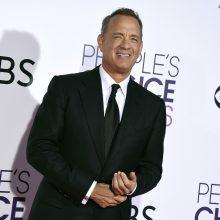 """Aktorius T. Hanksas bus pagerbtas """"Auksinių gaublių"""" garbės apdovanojimu"""