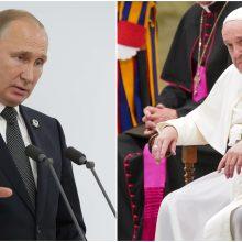 V. Putinas Vatikane susitiks su popiežiumi Pranciškumi
