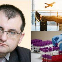 Profesorius apie koronavirusą kitose šalyse: planuodami keliones atkreipkite dėmesį