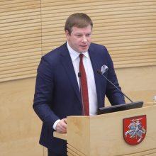 V. Šapoka: jei bus kalbama tik apie išlaidas, Lietuvai tai gali padaryti didelę žalą