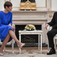 Estijos prezidentė: mums reikia savarankiškai kalbėtis su Rusija