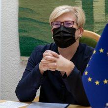 I. Šimonytė: Lietuvos ir ES žaliojo kurso ambicijos sutampa