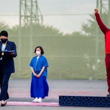 D. Gudzinevičiūtė Tokijuje apdovanojo olimpinius šaudymo medalininkus